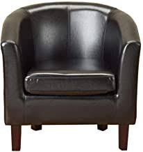 Faux Leather - Tub Chairs / Chairs: Home & Kitchen - Amazon.co.uk