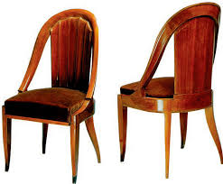 art deco chair rosewood upholstered cr108 by jacques emile ruhlmann art deco chairs