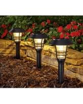 better homes and gardens 3 piece avalon solar powered landscape light set black better homes and gardens lighting