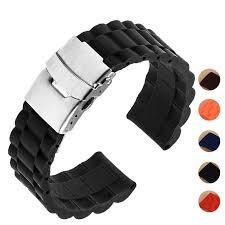 5 colors <b>18mm 20mm 22mm</b> 24mm Universal Watch Band <b>Silicone</b> ...
