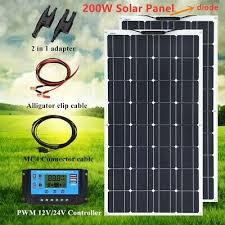 200w <b>Solar</b> Panel <b>Kits panneau solaire</b> 20A Controller Truck Boat ...