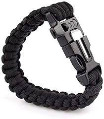VANKER <b>1Pc</b> Black- <b>Outdoor</b> Hiking <b>Emergency Survival</b> Bracelet ...