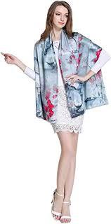 Spring Air Women's 100% Charmeuse <b>Silk</b> Long <b>Double Layer</b> ...