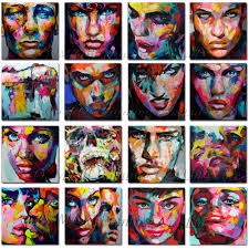 Superb Artist <b>Hand painted</b> King Size Nielly <b>Francoise</b> Portrait Oil ...