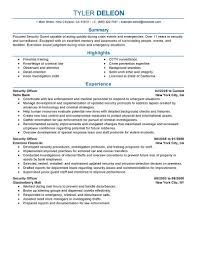 best security officer resume example livecareer choose