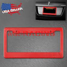 <b>1Pc</b> Plastic <b>Red Carbon Fiber</b> Style License Plate Frames Front ...