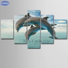 <b>5pcs Dolphin</b> 5d <b>diy</b> diamond painting square drill diamond ...