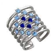 Серебряные <b>кольца с топазом Сапфир</b> - купить в интернет ...