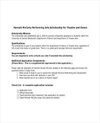 Dance Scholarship Essay Example