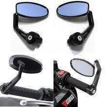 ZJMOTO Black Supermoto <b>Mirror</b> Aluminum <b>Motorbike side Mirrors</b> ...