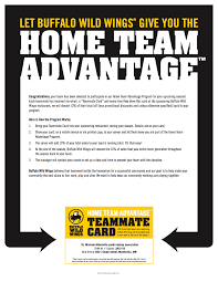 fundraising buffalo wild wings home team advantage fundraiser