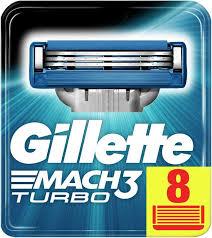 Купить Сменные <b>кассеты</b> для бритья <b>GILLETTE Mach3</b> Turbo ...