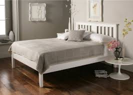 Malmo <b>White Wooden</b> Bed Frame