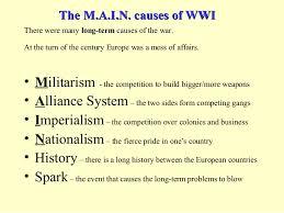 ww essay causesmain causes of world war one essay   anti essays