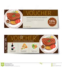 set of food voucher discount template design stock vector image set of food voucher discount template design stock photography