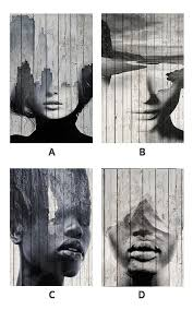 Abstract Figure <b>Art Nordic Style</b> Black And White Photographic ...