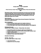 sample personal trainer resume how too make a resume