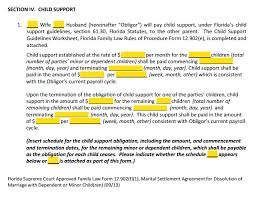 Form 12.902f1 Marital Settlement Agreement Divorce With Children ... MSA Section 4 Child Support