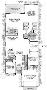 Long and Narrow Mediterranean Home Plan   AA   st Floor    Floor Plan