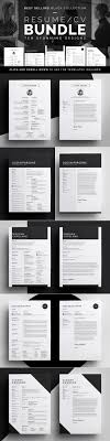 best ideas about cover letter design resume resume cv bundle black collection by bilmaw creative on creativemarket professional mini st