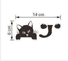 Drhob 3PCS 3D Visual <b>Cute Kitten Switch</b> Stickers Waterproof ...