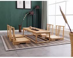 hand crafted modern rattan bamboo furniture floor table japanese style tatami coffeetea living room bamboo modern furniture