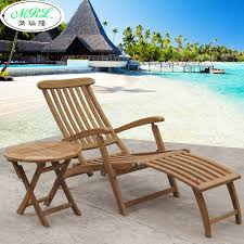 outdoor teak wood recliner chairs lying bed pool clubhouse balcony garden villachina mainland balcony outdoor furniture
