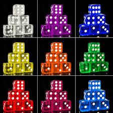 10Pcs 16mm Cubic Transparent <b>Colorful Exquisite</b> Dice Collection ...