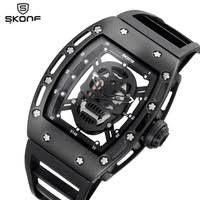 aliexpress com buy break futuristic mens watch top brand luxury skone brand skull fashion men s hollow silicone strap sport watches male special design quartz wristwatches relogio