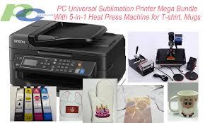 <b>PC Universal</b> Sublimation Bundle with Printer, 5-in-<b>1</b> Heat Press ...