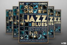 jazz blues flyer template design for photoshop jazz blues flyer template design for photoshop