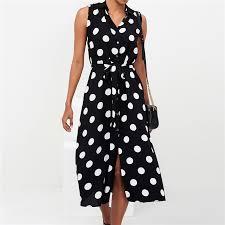 Long <b>Dress Women</b> Sexy <b>Summer</b> Polka Dot Beach <b>Chiffon Dresses</b> ...