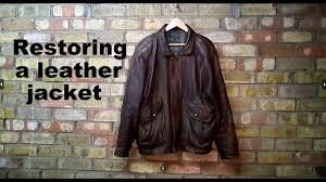 <b>Restoring</b> a <b>leather jacket</b> - YouTube
