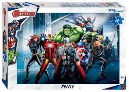 <b>Пазл Step puzzle</b> Marvel <b>Мстители</b> - 3 (95074), 260 дет. — купить ...