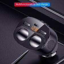 Universal 3 ways car auto cigarette lighter socket splitter power ...
