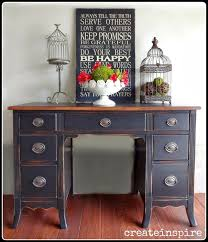 createinspire antique black desk with painted top and stained edge black desk vintage espresso