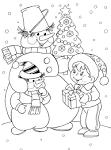 Раскраска для новогодней открытки