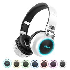 <b>Over</b>-<b>Ear Fordable LED</b> Wireless Bluetooth Bass Stereo Headphone ...