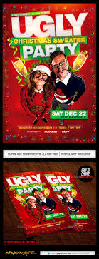ugly christmas sweater party flyer by industrykidz graphicriver ugly christmas sweater party flyer holidays events