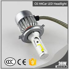 1x Super Bright H4 C6 36W 3800LM 6000K <b>Car LED Headlight</b> Hi ...