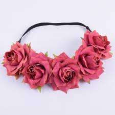 <b>CXADDITIONS</b> Fabric <b>Rose Flower</b> Headband Headwrap Easter ...