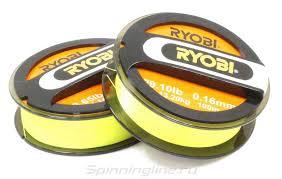Шнур <b>Ryobi PE 4</b> Excia Yellow 100м 0,14мм – купить по цене 930 ...