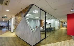 awesome brown wood glass luxury design interior cool office walled wood floor table chair divider glass awesome top small office interior