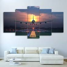 Buy <b>5 piece canvas</b> wall <b>art</b> airplane and get free shipping on ...