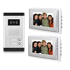 Amocam Apartment Intercom Entry System <b>7 Inch Wired Video</b> ...