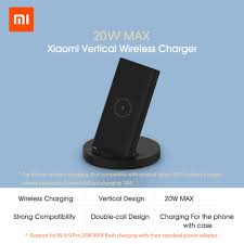 Ready Stock <b>Xiaomi Vertical</b> Wireless Charger <b>20W</b> Max with Flash ...
