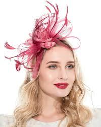 TEERFU <b>Womens Elegant Flower</b> Feather and Veil Fascinator ...