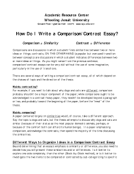 contrast essay examples essay introduction samples comparison  day cocontrast essay examples essay introduction samples comparison