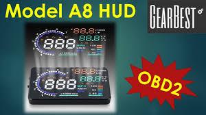 Model <b>A8 HUD</b> from GearBest - YouTube