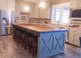 deen stores restaurants kitchen island: farmhouse chic sleek walnut butcher block countertop barn wood kitchen island stainless steel
